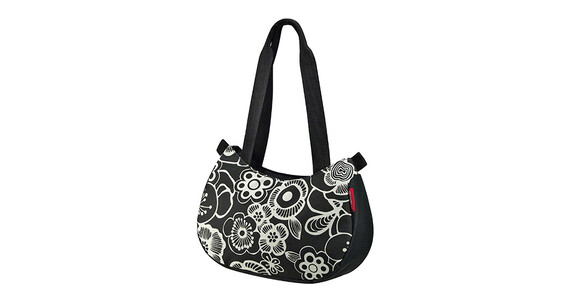 KlickFix Stylebag - Sac porte-bagages - fleur blanc/noir